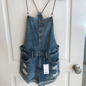 Forever 21 Jean Denim Romper Brand New with Tags